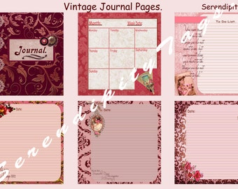 Vintage Journal Pages (6)