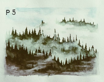Foggy Mountains (print)