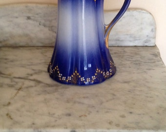 On sale thru July!! 1910 K&G Luneville France Faience Pitche