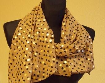 """Silk chiffon scarf  """"JANE"""" -  scarf for women -  scarves"""