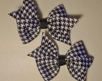 Houndstooth Bow Set