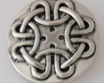 KB5421  Antiqued Silver Woven Thread Charm - Love This!