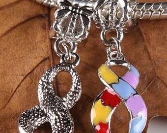 Autism Enamel Pendant INCLUDING Necklace Chain