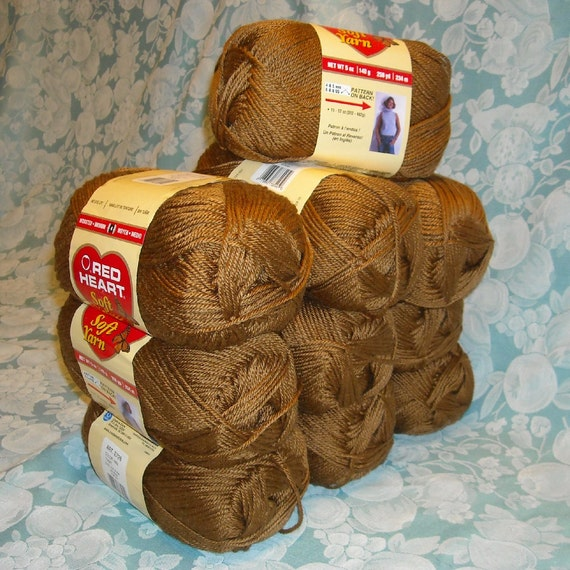 10 Skeins Red Heart Soft Yarn 50 Oz 3 Pounds 2560 Yds