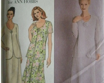 Misses Dress with Sleeve Variation Size 14-16-18 Simplicity Julian Wilder for Ann Hobbs Pattern 8612 LIKE NEW UNCUT Pattern Dated 1999