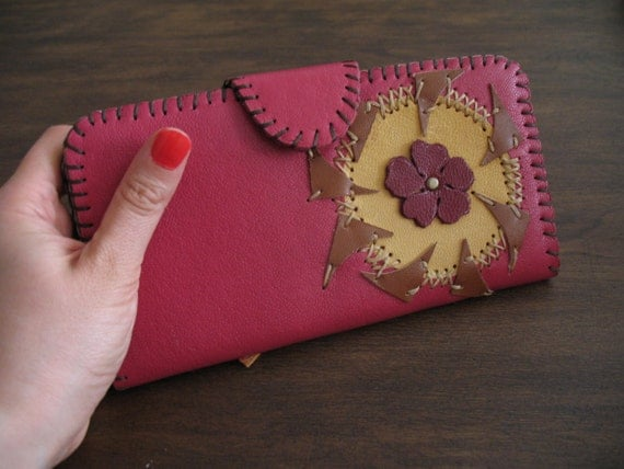 Girly Girl, Woman's red Leather Purse, Woman's red Leather Wallet ...