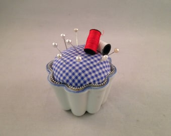 Decorative Custard Cup Pin Cushion