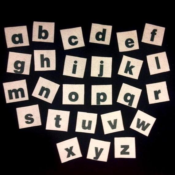 Felt board alphabet lower case letters flannel board story for Flannel board letters