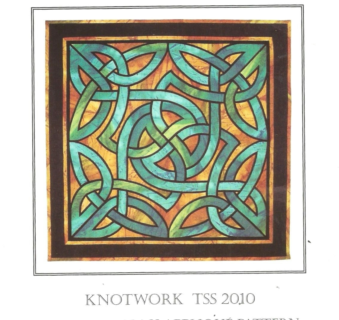 Stained Glass Celtic knot pattern inlaid reverse applique