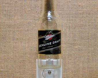 Miller Genuine Draft 12oz. Glass Bottle Night Light