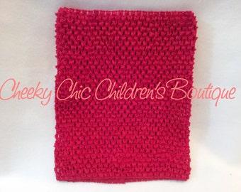 9x8 inch RED Crochet Tutu Dress Tube Top [CB9RD]