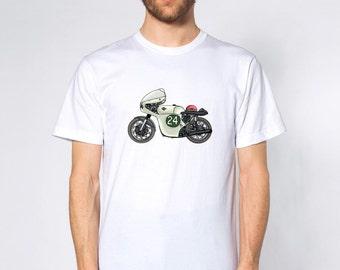 KillerBeeMoto: Limited Release 1960 Italian Engineered 250 Twin Race Bike Short & Long Sleeve Motorcycle Shirt (Semi-Color)