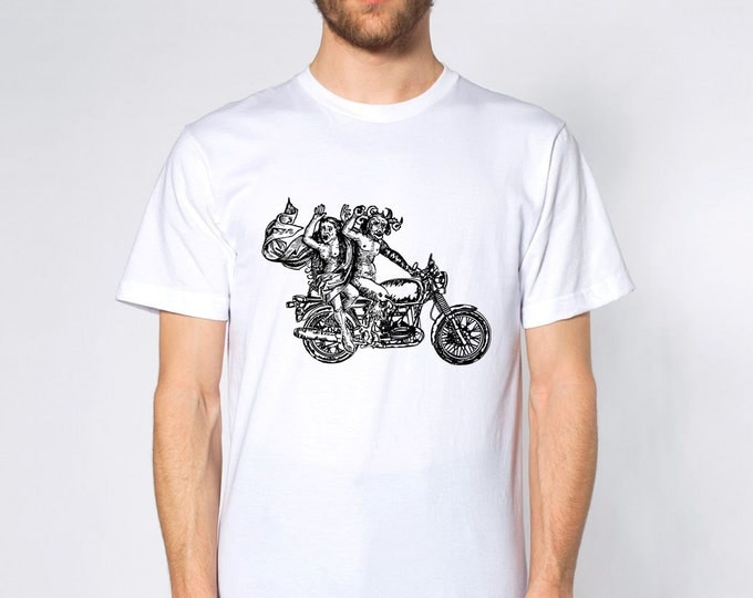 KillerBeeMoto: Devil May Ride Short & Long Sleeve Motorcycle Shirt