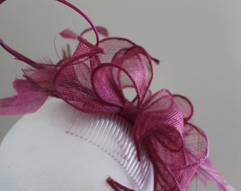 SALE Rose Pink Fascinator/Heather Pink Fascinator