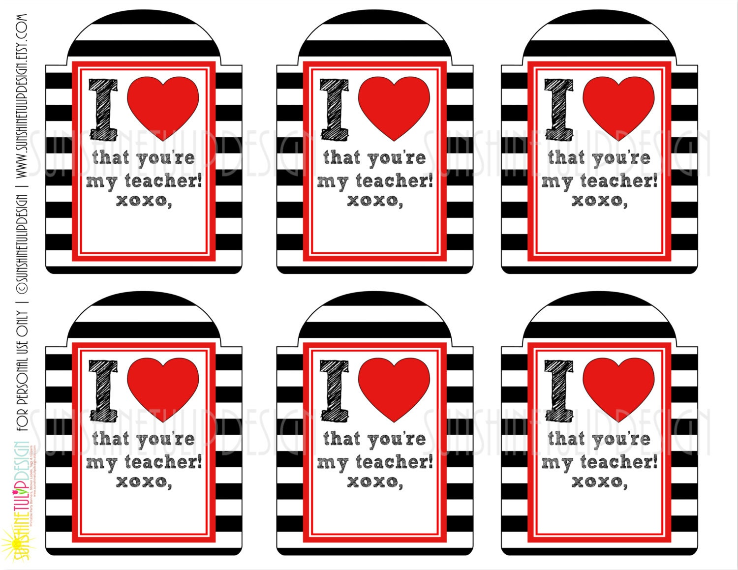 Dashing image throughout printable teacher gift tags