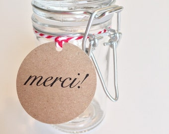MERCI Favor Tags (10ct)