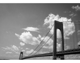 Verrazano Bridge photograph. New York City, Brooklyn, Queens, Park Slope. Matted fine art print. Brooklyn.