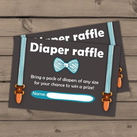 Baby shower Diaper raffle card Little man Baby Boy Oh Boy Baby