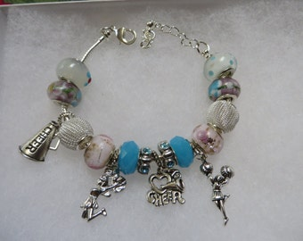 CHEERLEADER CHARM BRACELET   Team Spirit