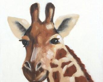 Giraffe - Oil on Canvas
