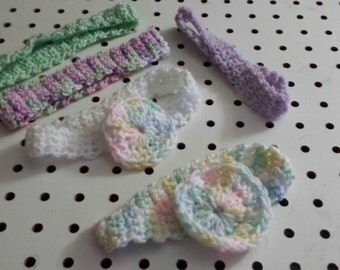 Crocheted Infant Headbands (0-6 months)