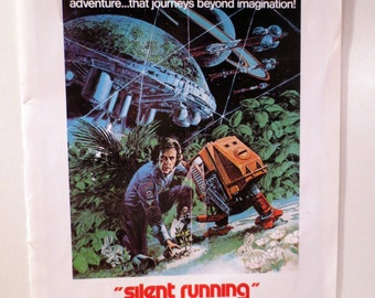 "Vintage Horror Science Fiction Movie Poster, Item 1816, 2 sided 1971 Silent Running, 1973 Fantastic Planet 14.25"" x 10.25"""