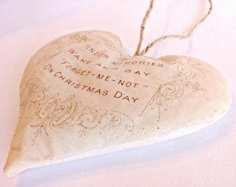 Christmas Heart Balsam Hanging Sachet, Christmas Gift