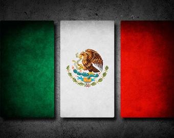 Mexico Flag Triptych (w/ Free Shipping!)