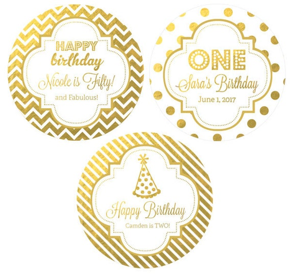Personalized Birthday Stickers 1st Birthday Labels Happy