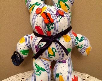 Hand MadeVeggie & Fruit Fabric Bunny