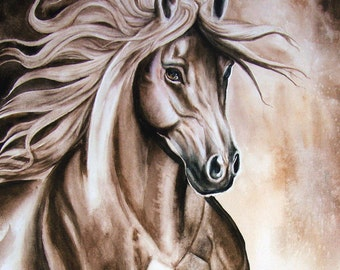 Horse Watercolor Painting Original Print from my original watercolor painting by Diana Turner