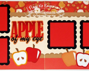 Scrapbook Page Kit Apple Of My Eye Boy Girl 2 page Scrapbook Layout 007