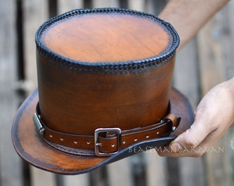 Custom Steampunk Leather Tophat