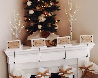 Christmas Stocking Holder Name plaques