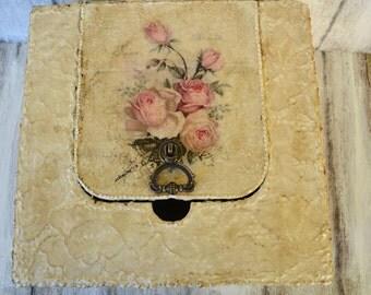 Wedding card box,Wedding keepsake box,Wedding reception decoration,Wedding memory box,Personalised memory box,Lace and roses box,Storage box