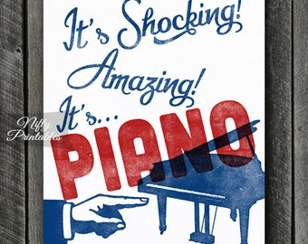 Piano Print - Piano Art - Piano Printable - INSTANT DOWNLOAD Vintage Piano Poster - Printable Music Wall Art - Piano Gifts - Piano Wall Art