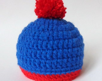 Stan Marsh Hat South Park Beanie Or Choose Your Favorite Character - Newborn to Adult Photo Prop Halloween / Cosplay