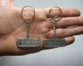 LOL League of Legends Keychain doble sided Keychain Rare  Key Chain Pendant Pewter Silver  FREE SHIPPING