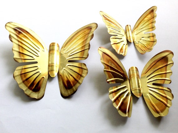 Amazing Gold Butterfly Wall Decor Festooning - Wall Art Design ...
