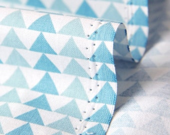 "Cotton Fabric 0.60"" (1.5 cm) Triangle Sky Blue By The Yard"