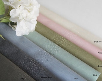 Laminated Cotton Fabric in 7 Colors By The Yard