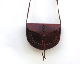 SALE : 30% Off 91 usd- Leather Cross Body Bag ,Bohemian Leather Bag,Leather Tote,Leather Purse,Leather Handbag,Handmade Leather Bag