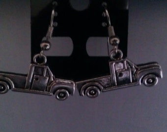 "Pair of Antique Silver ""PICK UP TRUCK"" Dangle Earrings"