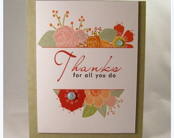 Thanks for all you do flower card