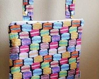 Wetbag,Hanging Kitchen and  Bathroom Bag,Waterproof Bag, Macaroons, Cloth Diaper Storage Bag