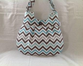 Turquoise, grey, brown, chevron purse, purse, chevron bag, chevron, cross body, travel bag