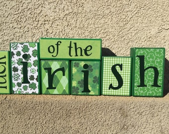 St. Patrick's Day blocks - luck of the irish