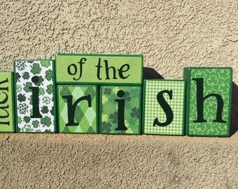 St. Patrick's Day blocks - luck of the irish
