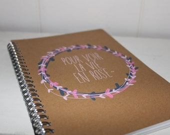 "Notebook ""La vie en Rose"" -  5,90 x 8,26 in"