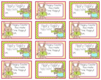 Happy easter gift tags craftbnb easter gift tagsetsy negle